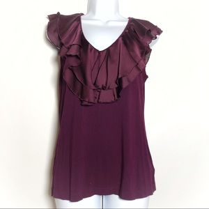 Lauren Ralph Lauren ruffle collar tank top blouse